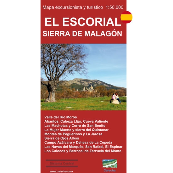 Ed. Calecha Mapa El Escorial, Sierra Malagón -