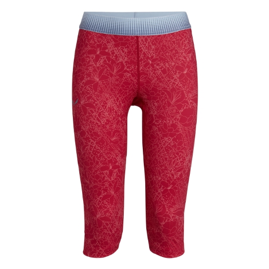 Salewa PEDROC DRY 3/4 TIGHTS W - Rose Red Flower