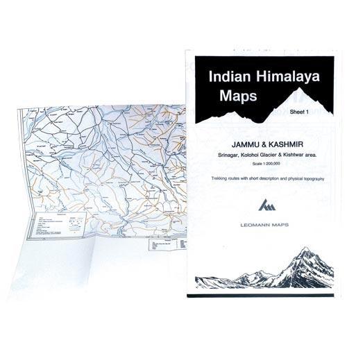 Ed. Leomann Maps Pu. Indian Himalaya 1, Jammu-Kashmir -