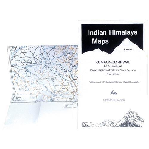 Ed. Leomann Maps Pu. Kumaon-Garhwal-Sheet 8-Pindari Glacier -