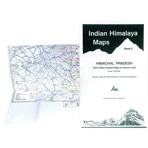 Ed. Leomann Maps Pu. Himachal Pradesh-Sheet 5 Kullu Valley -