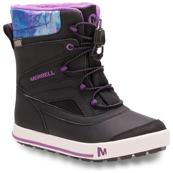 Merrell ML-Girls Snow Bank 2.0 Waterproof - Black/Print/Berry
