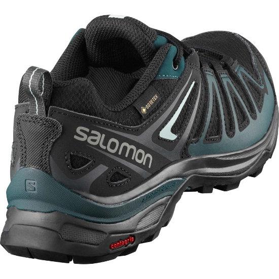 Trekkingschuhe SALOMON X Ultra 3 Prime Gtx W GORE TEX 407862 20 W0 BlackReflecting PondIcy Mom