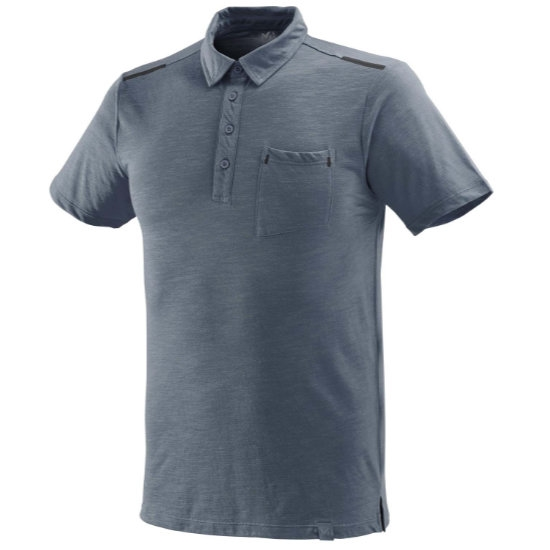 Millet Imja Wool Polo - Flint