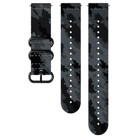 Suunto 24 mm Explore 2 Textile Strap - Cemento/ Negro