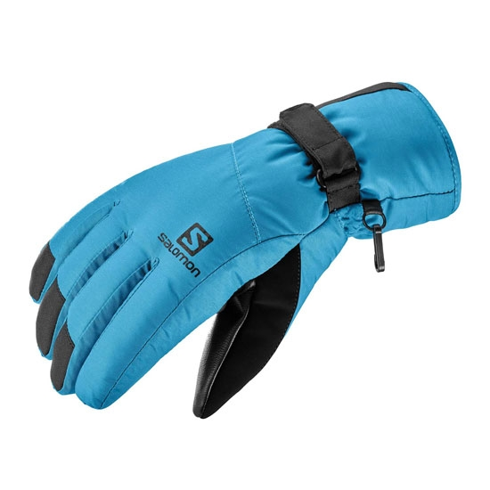 Salomon Force Dry Glove - Black/Fjord Blue