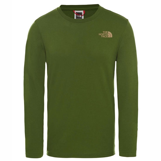 The North Face Easy Tee LS Garden Green T92TX1 8RD  Lifestyle Men's Clothing