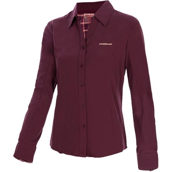 Trangoworld Camisa Lusera W - Morado Oscuro