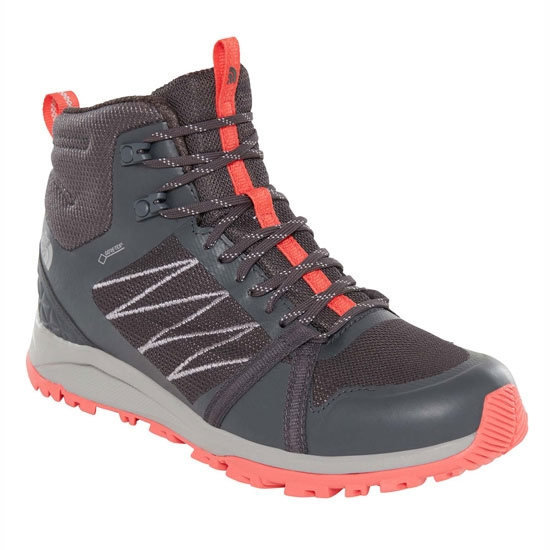 The North Face Litewave Fastpack II Mid GTX W - Ebony Grey/Fiesta Red