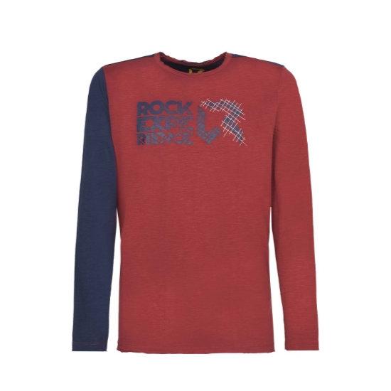 Rock Experience Condor Pass T-Shirt - Rosewood/Blue Night