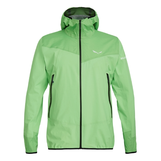 Salewa Agner PTX 3L Jacket - Fluo Green