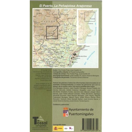 Ed. El Tossal MAPA PUERTOMINGALVO 1:25000 - Detail Foto