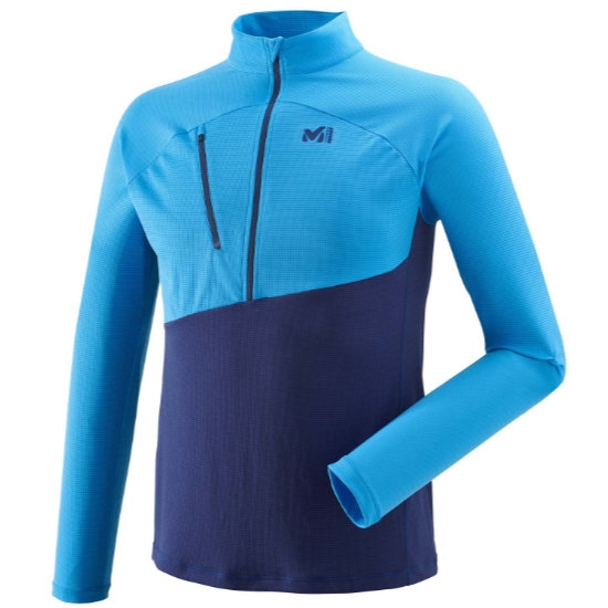 Millet Elevation Zip LS - Blue Depths/Electric Blue
