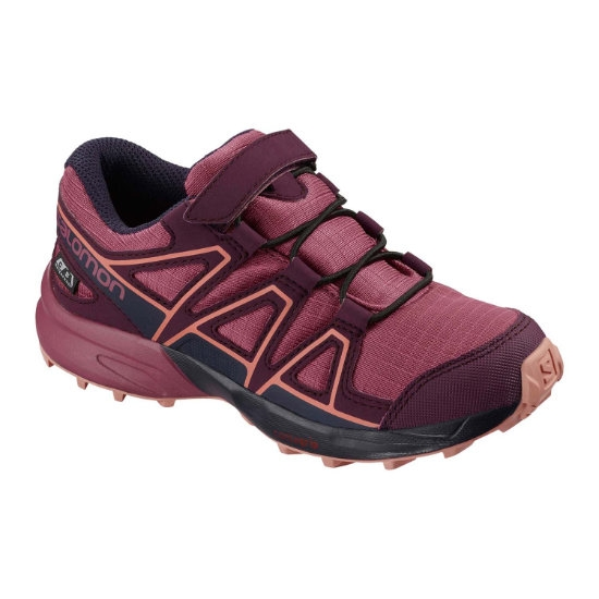 Salomon Speedcross CSWP Kids - Malaga / Potent Purple / Desert Flower