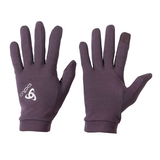 Odlo Natural +Warm Gloves - Vintage Violet