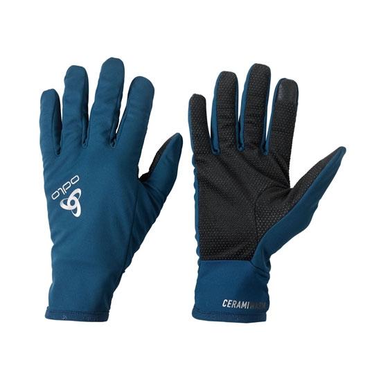 Odlo Ceramiwarm Grip Gloves - Poseidon