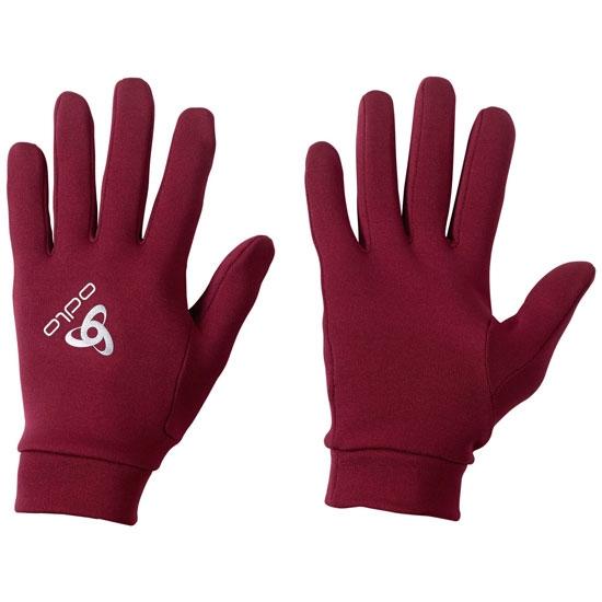 Odlo Strech Fleece Liner Gloves - Rumba Red
