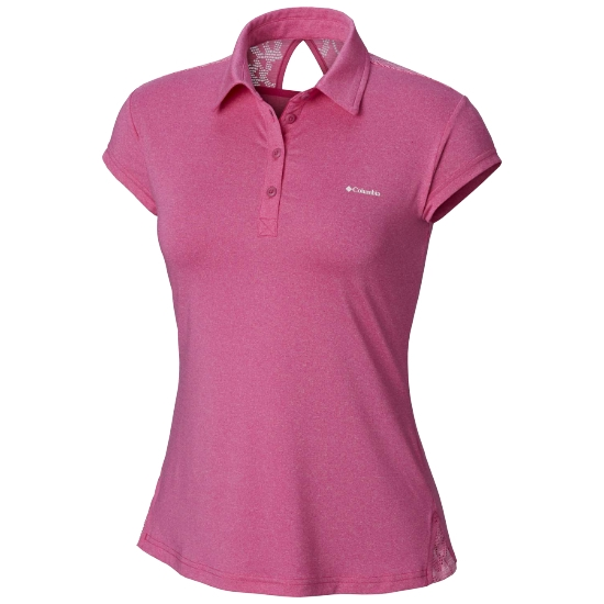Columbia Peak To Point Novelty Polo W - Haute Pink