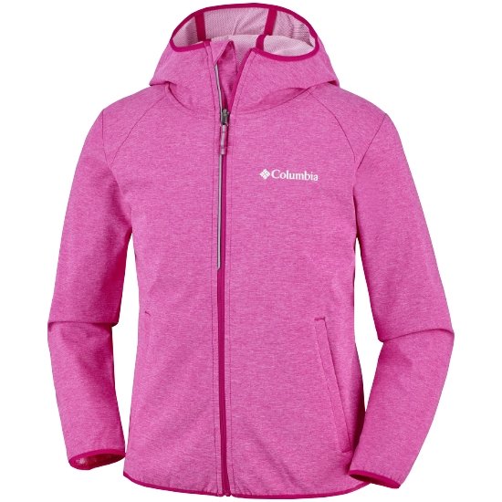 Columbia Heather Canyon Softshell Youth - Haute Pink Heather