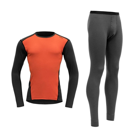 Devold Multisport Man Set - Charcoal/Lava