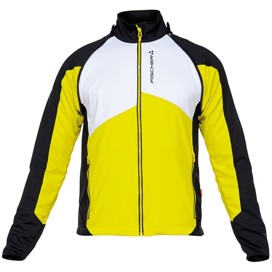 Fischer Light Jacket Detachable Sleeves - Black/Yellow/White