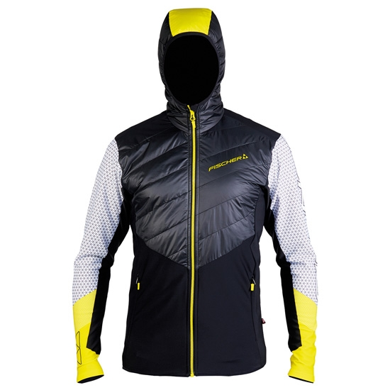 Fischer Stretch Hybrid Jacket - Black/Yellow