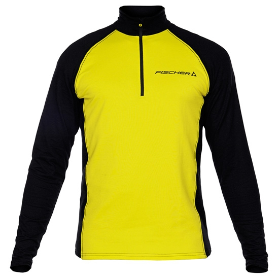 Fischer Skishirt Turtleneck Planica - Yellow/Black