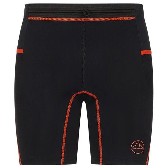 La Sportiva Freedom Tight Short M - Black/Pumpkin