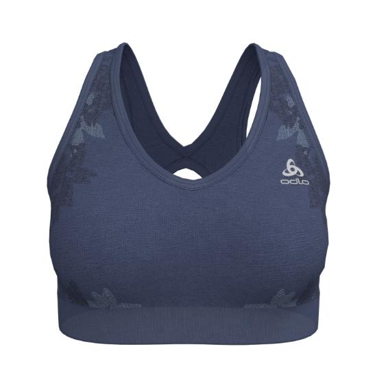 Odlo Blackcomb Seamless Medium Sports Bra - Blue