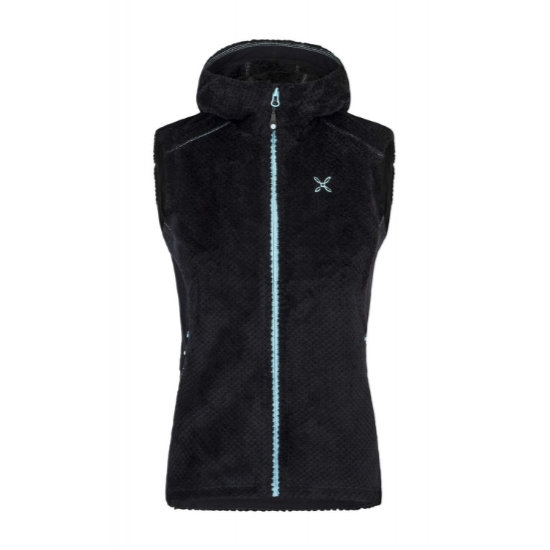 Montura Soft Pile Hoody Vest W - Nero/Ice Blue
