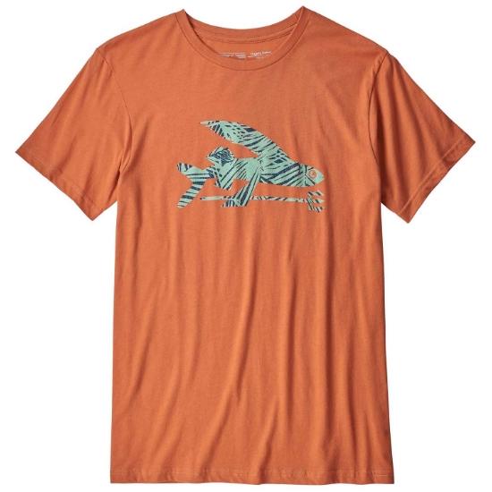 Patagonia Flying Fish Organic Tee - Sunset Orange