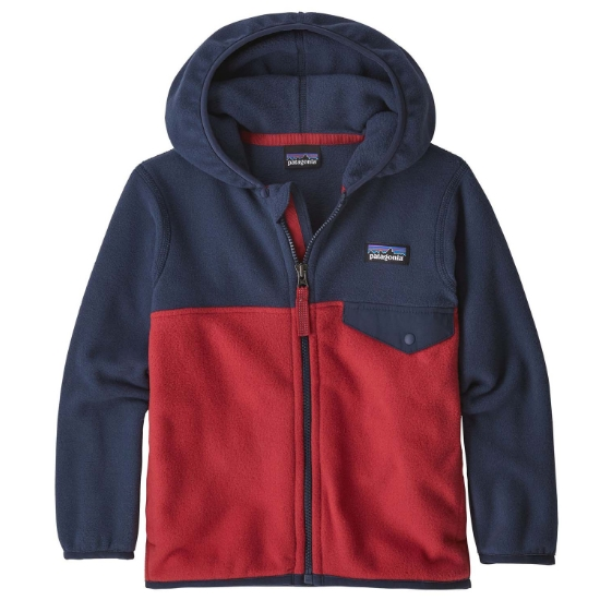 Patagonia Baby Micro D Snap-T Jkt - Fire w/New Navy