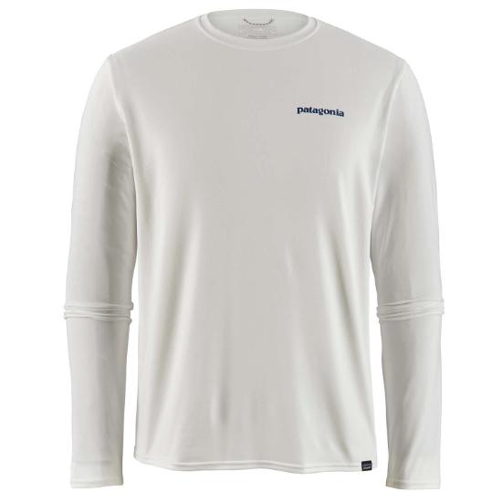 Patagonia L/S Cap Cool Daily Graphic Shirt - Boardshort Logo-White
