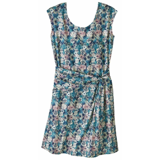 Patagonia Seabrook Twist Dress - Furnai Floral-New Navy