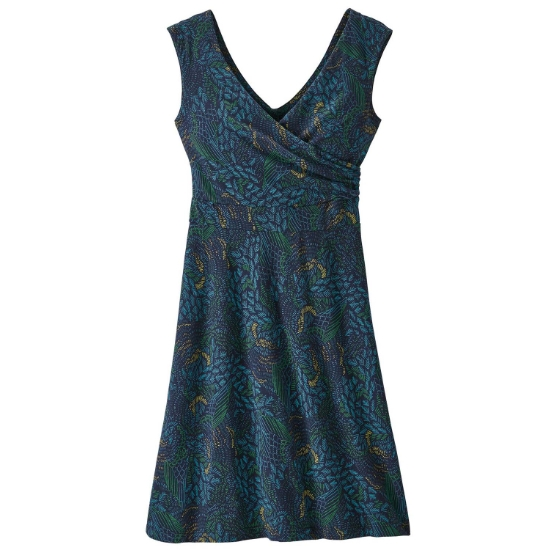 Patagonia WS PORCH SONG DRESS - Swift Feathers Multi-New Navy