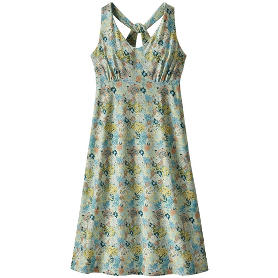 Patagonia MAGNOLIA SPRING DRESS W - Furnai Floral: Atoll Blue