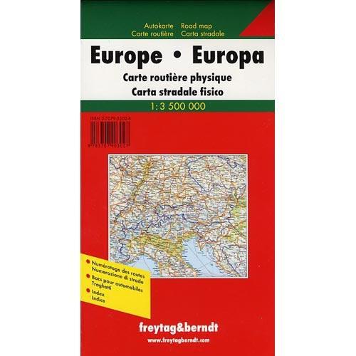 Ed. Freytag & Berndt Europe: Physical Road Map -