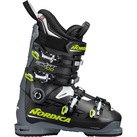 Nordica Sportmachine 100 Thermoformable - Anthracite/Yellow/White