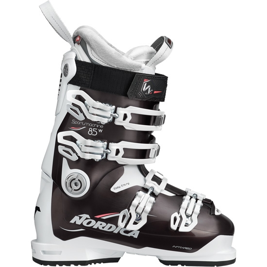 Nordica Sportmachine 85 W Thermoformable - Nero Perla/Bia/Rosa
