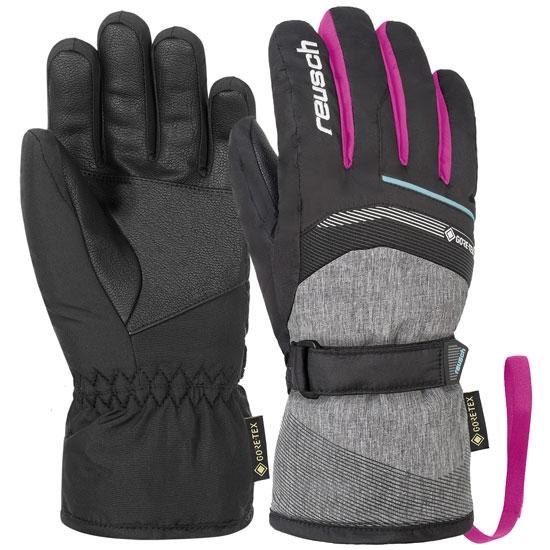 Reusch Bolt GTX® Jr - Black melange/Pink