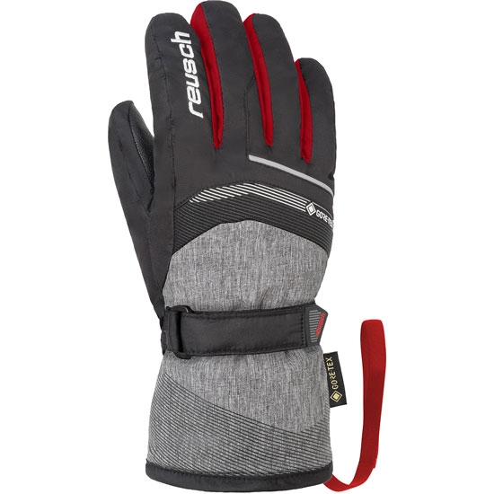 Reusch Bolt GTX® Jr - Black melange/Red