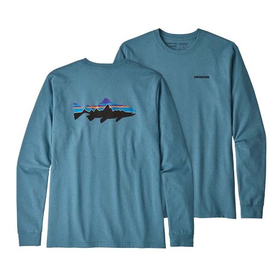 Patagonia Fitz Roy Trout Responsibili-Tee - Mako Blue