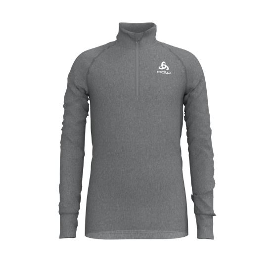 Odlo Top Turtle Neck Hz Active Kids - Grey Melange