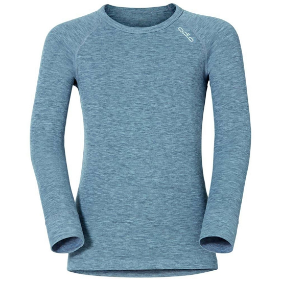 Odlo Top Crew Neck LS Active Warm Kids - Blue