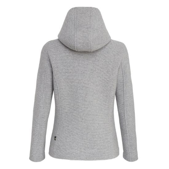 Salewa Woolen 2L Fleece Jacket Silver Women