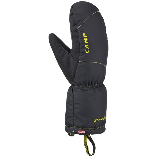 Camp Tempest Mitt - Black/Lime