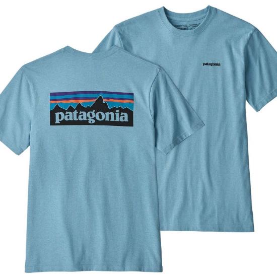 Patagonia P-6 Logo Responsibili Tee - Break Up Blue