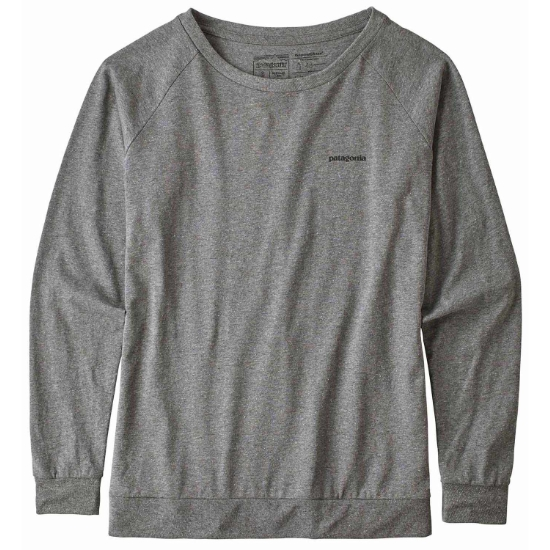 Patagonia Long-Sleeved P-6 Logo Responsibili-Tee W - Gravel Heather