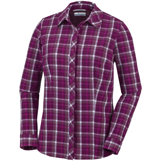 Columbia Saturday Trail Str Plaid Shirt W - Wine Berry