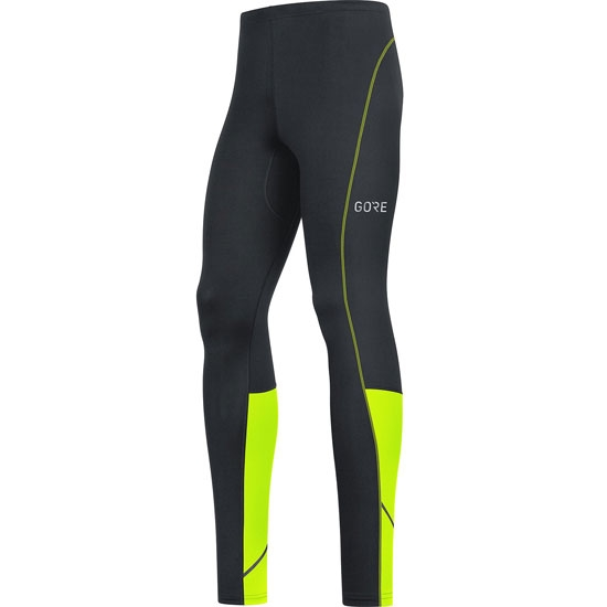 Gore Running Wear Gore R3 Long Tights - Black/Neon Yellow